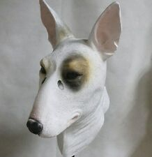 English Bull Terrier Mask Dog Latex Overhead Animal Fancy Dress Canine Halloween