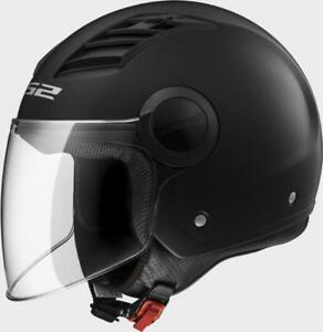 CASCO JET LS2 OF562 AIRFLOW SOLID NERO OPACO INTERNO REMOVIBILE PRESE D'ARIA