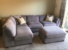 Furniture Village Grey Corner Sofa And Stool