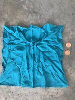 Vintage Blue Silk Handkerchief Scarf Pocketsquare Pocket Square