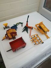 BRITAINS FARM TOYS NICE JOB LOT OF TRACTOR IMPLEMENTS