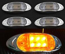 4x LED ORANGE latéral FEUX DE POSITION CHROME CAMION pour MAN DAF VOLVO