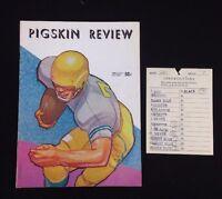 Vintage 1959 USC Trojans Pittsburgh Panthers Pigskin Review Program Spirit Card