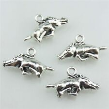 20703 15pcs Vintage Silver Alloy Aniaml Wild Boar Pig Pendant Jewelry Findings