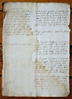 1520 original oncial writting manuscript very old nice calligraphy authentic