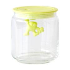 A di Alessi Gianni Glass Jar, Yellow Lid, 70 cl, (AMDR04 Y)