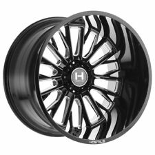 IN STOCK! 4 new 20x10 Hostile Fury Black Milled H114 Wheels 6x5.5 Chevy 6x139.7