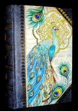 Punch Studio Gold Foil Keepsake Nesting Book Box Blue Peacock 99969 Small