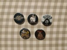 5 X Extreme Metal band buttons (dgent,tesseract,slipknot,meshuggah,gojira,badgs)