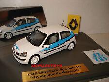RARE RENAULT CLIO 2004 SERIE SPECIALE OLYMPIQUE DE MARSEILLE OM au 1/43 °