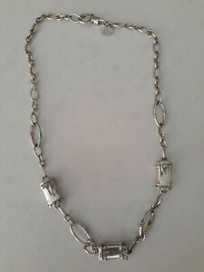 """JOHN HARDY STERLING SILVER NECKLACE 18"""" BAMBOO STATION CHAIN LINK"""