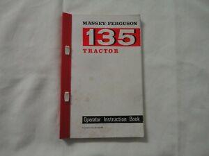 MASSEY FERGUSON 135 Tractor Operator Handbook, Instruction Manual BOOK / BOOKLET