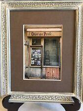 Paris Photography, Paris Antique Shop, Vintage Wooden Frame, Paris Decor