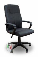 Stil sedie Rio poltrona da ufficio scrivania e studio in morbida ecopelle nero