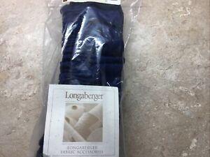 NEW Longaberger Basket MEDIUM GARTER Indigo 27425144
