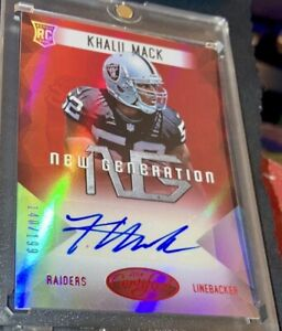 💎BEAUTIFUL Ruby Red Khalil Mack🔥Holo RC Auto /199 🏆FUTURE HALL OF FAMER📈