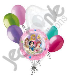 7 pc Disney Princess Merry Christmas Balloon Bouquet Party Decoration Gift Snow