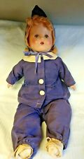 """20"""" Vintage Composition Doll With Weighted Sleep Eyes As Is Tlc"""
