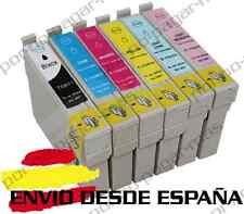 6 CARTUCHOS DE TINTA COMPATIBLE NON OEM PARA EPSON STYLUS PHOTO RX585 T0807