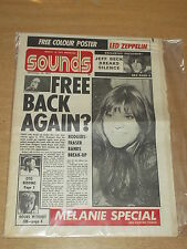 SOUNDS DECEMBER 18 1971 FREE BACK JEFF BECK OTIS REDDING DOORS MELANIE NO POSTER