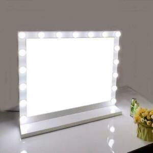 Large Hollywood Makeup Mirror Desktop 17LED Light Dressing Vanity Dimmable Bulb