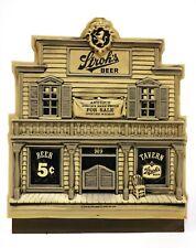 VINTAGE 1978 Stroh's Beer 15x18 Old West Saloon 3D Figural Background Bar Sign