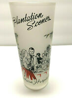 LIBBEY PLANTATION SCENES FROSTED GLASS COLLECTIBLE SOUTHERN HOSPITALITY