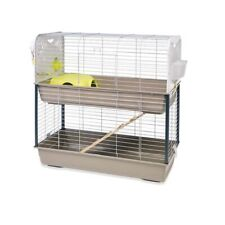 Double Decker Pet Rabbit Hutch ,Guinea Pig Cage With Wooden Ramp Indoor 2 Storey