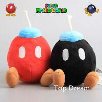 "Super Mario Bros Plush Bob-omb Bombs Soft Toy Stuffed Doll Teddy 6.5"" Xmas Gift"