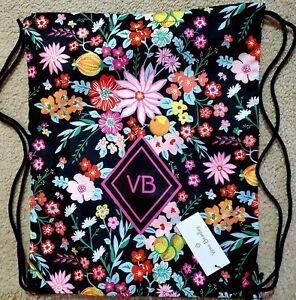 Vera Bradley Drawstring Backsack nylon foldable backpack in Tangerine Twist