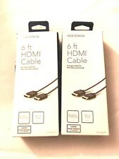 Lot of 2 Insignia 6ft HDMI Cable for PS3 PS4 Xbox 360 Wii 1080P 3D HDTV Apple TV