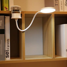 Clip Lamp Battery Powered Reading Light Bed 3 Brightness Level Rechargeable Lamp