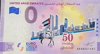BILLET 0  EURO UNITED ARAB EMIRATES  ANNIVERSARY COULEUR  2021 NUMERO DIVERS