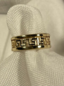 14K Yellow Gold Greek Key Design Ring