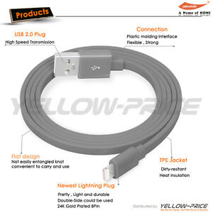 [Apple MFi Certified] Falt Noodel 8-Pin Charging Cable for iPhone 11 X 7 8 Plus