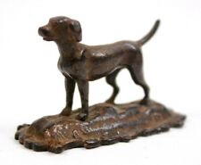 Antique Miniature Bronze Study of a Working Dog Circa 1900