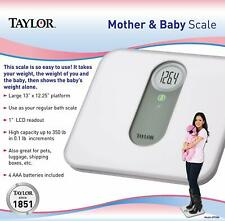 "New Taylor 7088 1"" Lcd Electronic Digital Weight Mother & Baby Bath Scale 350 lb"