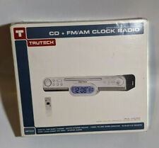 Trutech Kc308S Cd + Fm Am Spacesaving Kitchen Clock Radio With Remote Sealed New