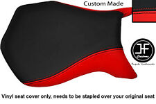BLACK & RED VINYL CUSTOM FITS MV AGUSTA F4 99-09 750 1000 FRONT SEAT COVER ONLY