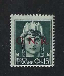 Italy 1943-4   Guardia Nazionale Repubblicana-GNR Overprint on Sc#216  MNH