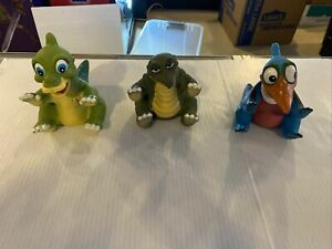 Vintage 1988 Pizza Hut Land Before Time Dinosaur Puppets Lot of 3