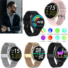 Round Touch Screen Bluetooth Smart Watch Heart Rate Blood Pressure Monitor Track
