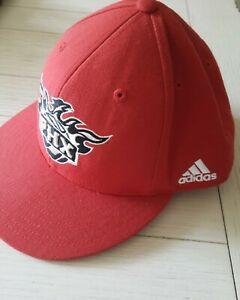 NBA Adidas Phoenix Suns Fitted Flat Cap Hat Red 7-1/2