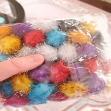 50pcs Colorful Pompoms 15mm Handmade Material Soft Fluffy Ball kids craft