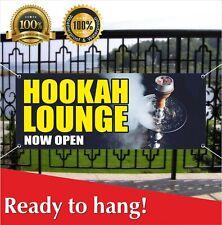 Hookah Lounge Now Open Banner Vinyl / Mesh Banner Sign Smoke Shop Cigar E-Cig
