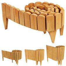 More details for woodside wooden log roll border fence, staked garden edging for flower beds etc