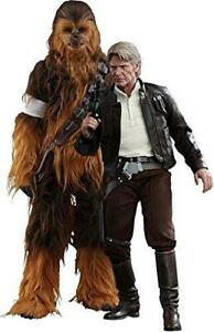 Set Star Wars 7 VII Figure 2-PACK Han Only & Chewbacca 1/6 HOT TOYS Statue #2