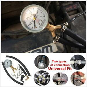 Car Vehicles Fuel Injection Pump Injector Tester Pressure Gauge Gasoline Tester