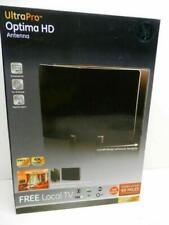 GE UltraPro Optima Black Indoor TV Antenna, Signal Enhancer, Reflector Panel, ..
