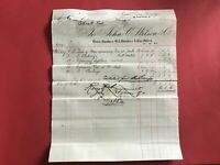 John C Wilson & Co Brass and Bell Founders  1884  Glasgow receipt R33510